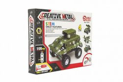 """Fém katonai autóskészlet 166 darab dobozban 26x20x4cm """" RM_00850114"""