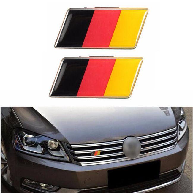 Autó matrica - német zászló - 2 db 1