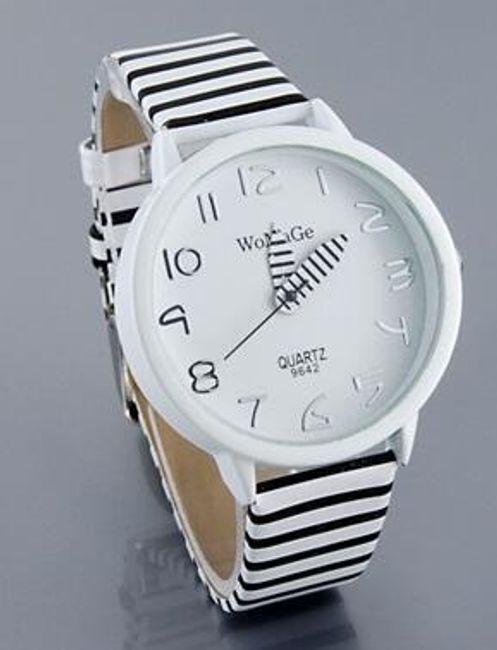 Zebrowany damski zegarek 1