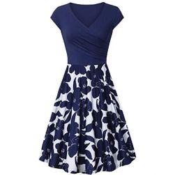 Női rövid ujjú ruha Reese kék - méret 6