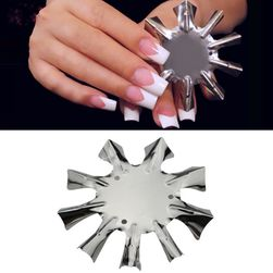 Metal template for french manicure TF4882