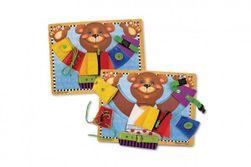 Vkladačka Medveď s rôznymi typmi zapínania drevo 40x30cm vo fólii RM_88800007