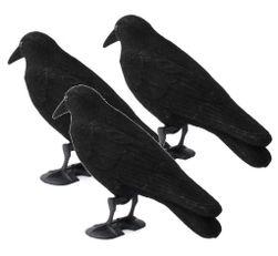 Maketa havrana plastová - havran - plašič vtákov - SADA 3KS PD_1539553