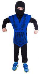 Kostium ninja niebieski dla dzieci (S) RZ_821163