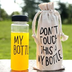 Butelka z napisem My Bottle z torebką