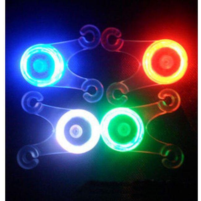 Biztonsági szilikon LED kerékpárfény 4 színben 1