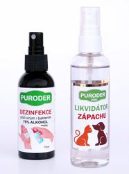 Sada dezinfekce CLEAN proti virům, 75ml + likvidátor zápachu ZOO, 100ml IZ_1600590269