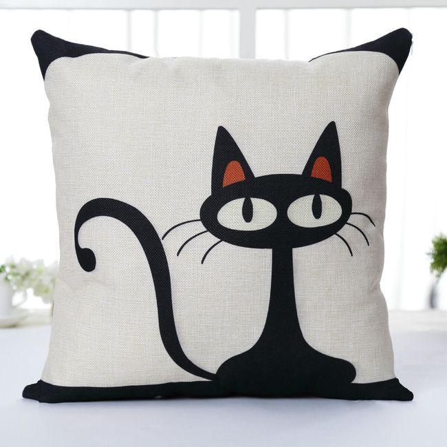 Față de pernă cu pisică 1