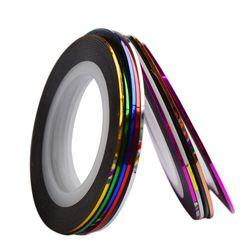 Zestaw kolorowych taśm do paznokci