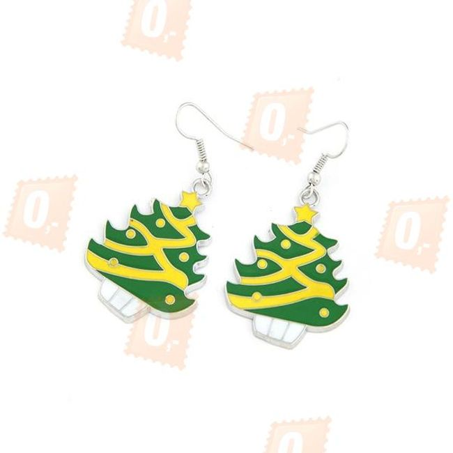 Náušnice ve tvaru vánočního stromečku 1