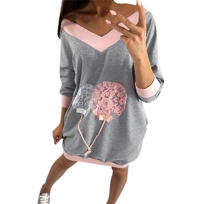Bluzowa sukienka Milana 1
