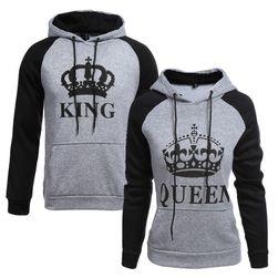 King Queen çift sweatshirt