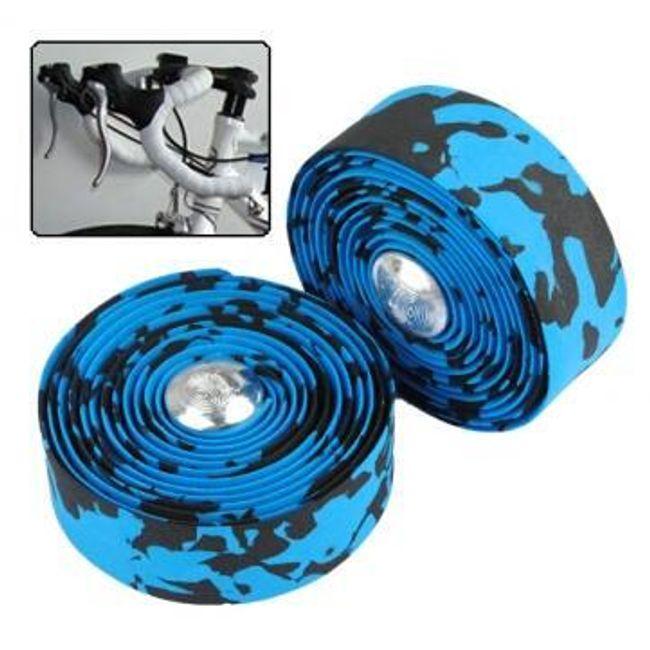 Páska na řidítka - modro-černá 1