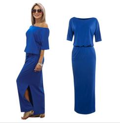 Rochie lungă Albertina - 4 culori