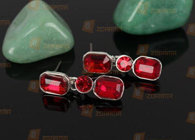 Cercei cu pietre din sticlă prelucrată 1