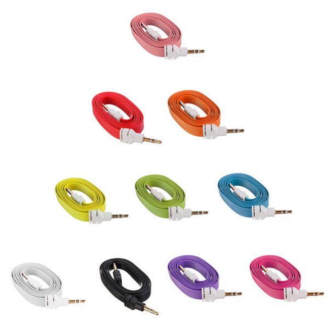 Lapos csatlakozó kábel 3,5 mm - 3,5 mm 1