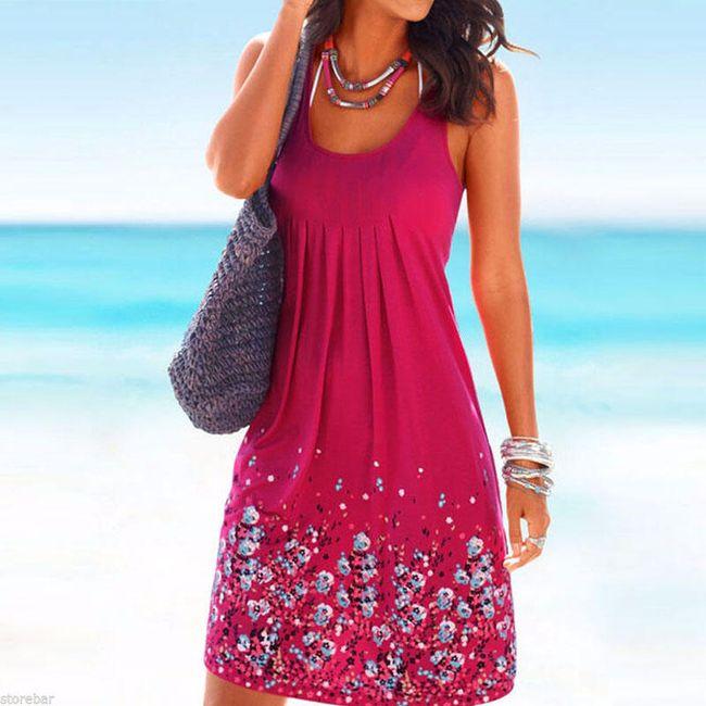 Dámské šaty na léto - Růžová-velikost č. 4 1
