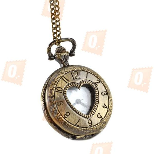 Zegarek na łańcuszku z tarczą w kształcie serca 1