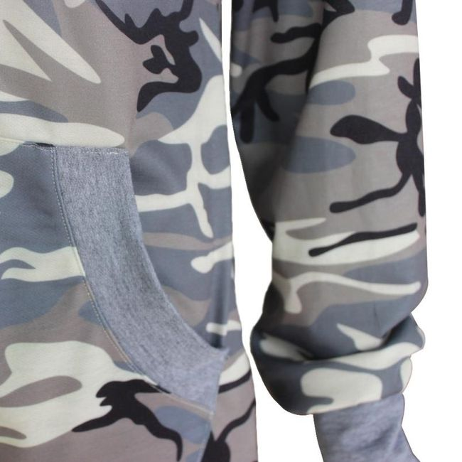 Camouflage kapucnis kapucnis női - 4 méret