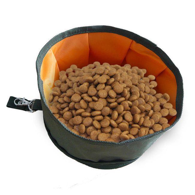 Skládací miska na granule i vodu - různé barvy 1