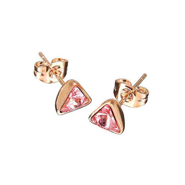 Aranyos háromszög alakú fülbevaló - 3 szín 1