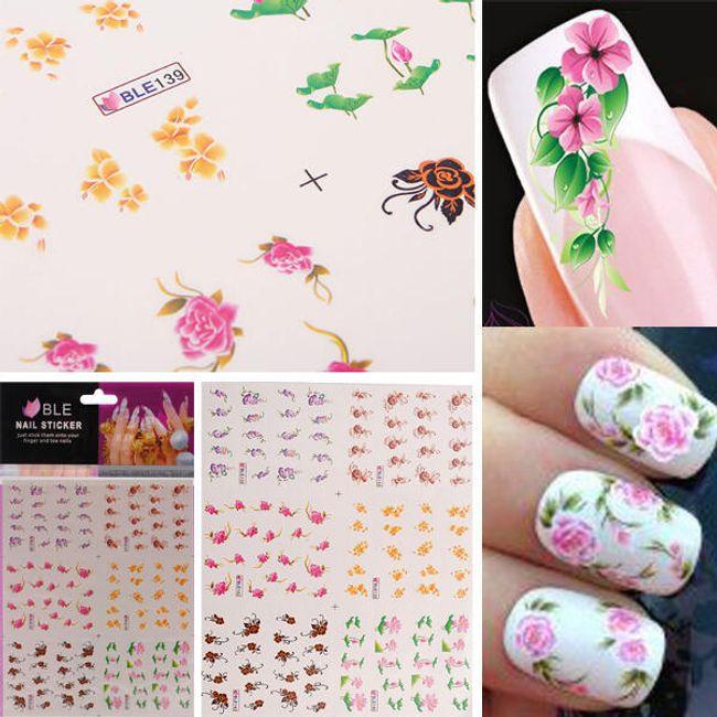 Autocolante unghii în culori vesele 1