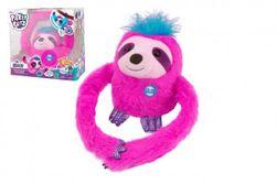Jucărie de pluș roz cu baterii, Slowy  RM_23000002