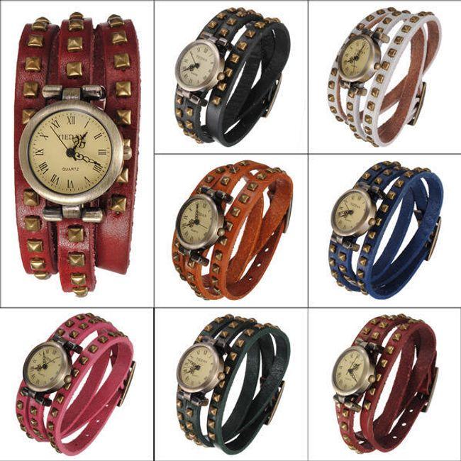 Retro zegarek - oferujemy 5 kolorów - unisex 1