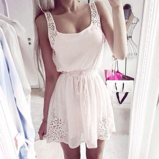 Dámské šaty - Bílá-velikost č. 2 1