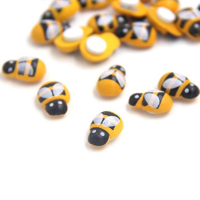 Lesene okrasne mini čebele - 100 kosov 1