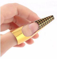 Šabloni za izradu gel noktiju - zlatne boje