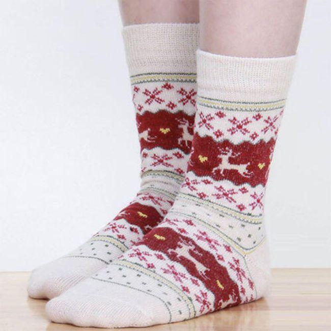 Ponožky s vánočním motivem - 1 1