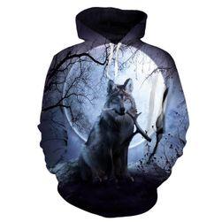 Mintás póló farkasal