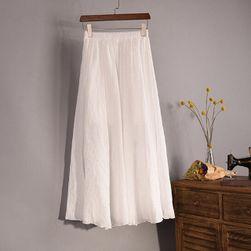 Vzdušná lněná sukně ve všech barvách