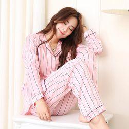 Pruhované pyžamo pro dámy - 2 barvy