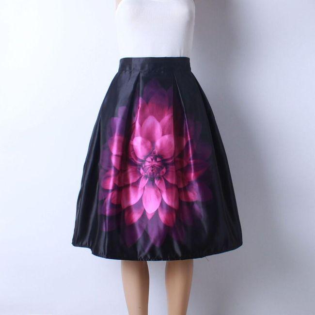 Skládaná delší sukně - varianta 20 1