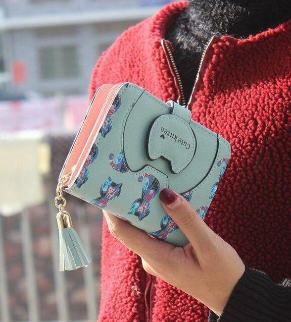 Dámská malá peněženka s kočičím motivem - různé barvy 1