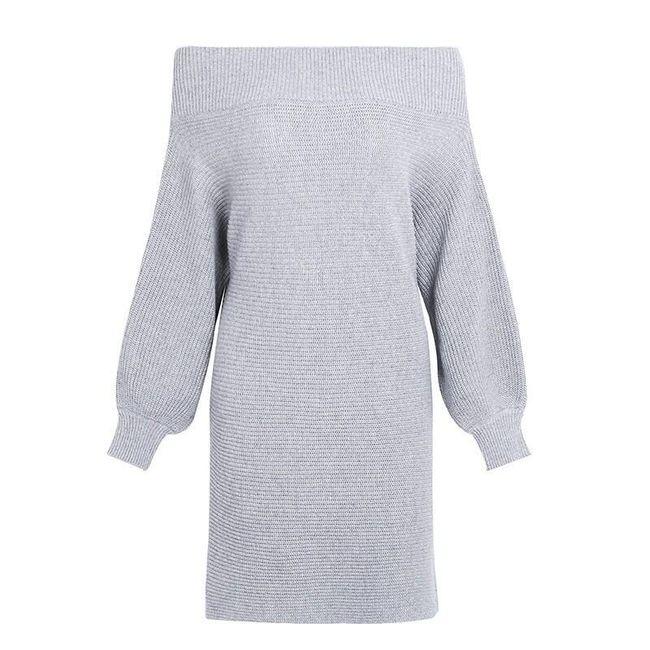 Kötött Agnetha ruha - szürke