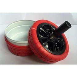 Rotační popelník ve tvaru pneumatiky