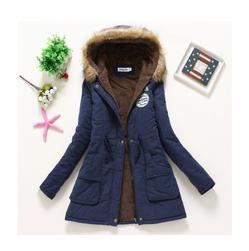 Bayan kışlık ceket Jane Koyu mavi-beden L