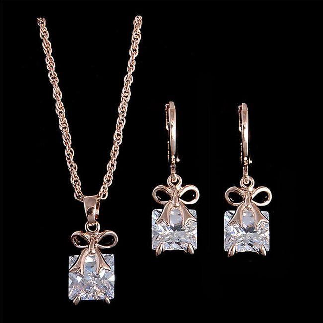 Sada šperků s mašličkou a s kamínkem 1