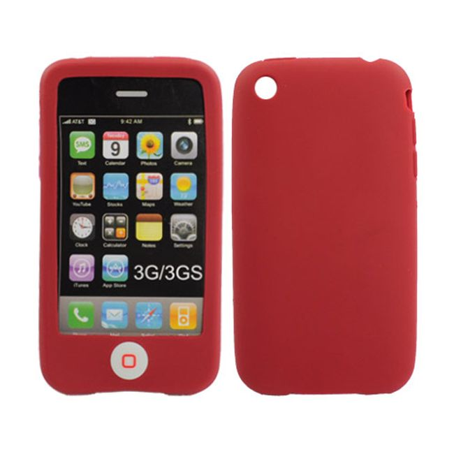 Silikonové ochranné pouzdro pro iPhone 3G a 3GS - červené 1