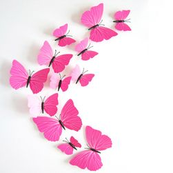 3D nalepnice ružičastih leptira