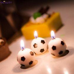 Sveća u obliku lopte - 3 komada