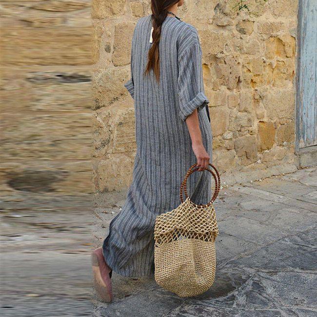 Szürke szabad maxi ruha