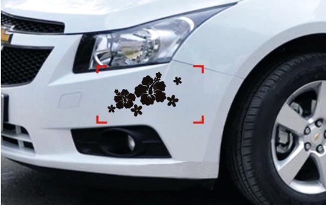 Reflexní nálepky na auto se vzorem květin 1