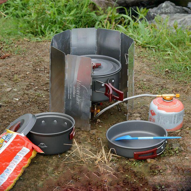 Nastavitelná ochranná deska pro venkovní vaření 1