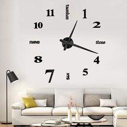 Zidni sat crne boje - 3D