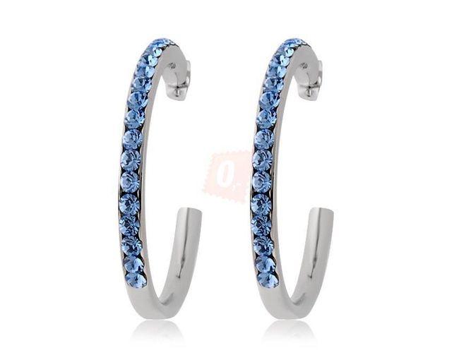 Okouzlující náušnice zdobené modrými kamínky 1