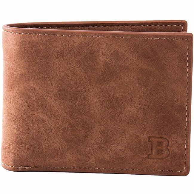 Pánská peněženka v jednoduchém stylu 1